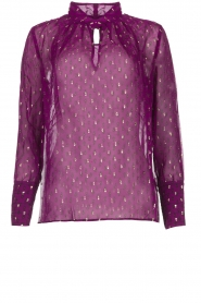 ba&sh |  Lurex print blouse Cabri | purple  | Picture 1