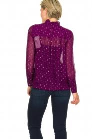 ba&sh |  Lurex print blouse Cabri | purple  | Picture 5