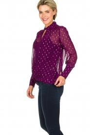 ba&sh |  Lurex print blouse Cabri | purple  | Picture 4