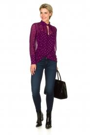 ba&sh |  Lurex print blouse Cabri | purple  | Picture 3