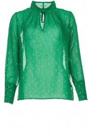 ba&sh |  Lurex print blouse Cabri | green  | Picture 1