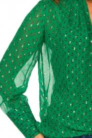ba&sh |  Lurex print blouse Cabri | green  | Picture 6