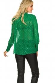 ba&sh |  Lurex print blouse Cabri | green  | Picture 5