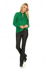 ba&sh |  Lurex print blouse Cabri | green  | Picture 3
