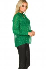 ba&sh |  Lurex print blouse Cabri | green  | Picture 4