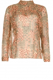 Blouse met print Mia | naturel
