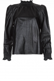 ba&sh | Leather top Mylo | black  | Picture 1