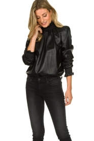 ba&sh | Leather top Mylo | black  | Picture 2