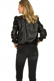 ba&sh | Leather top Mylo | black  | Picture 6