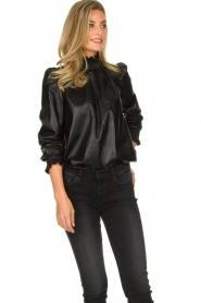 ba&sh | Leather top Mylo | black  | Picture 4