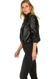 ba&sh | Leather top Mylo | black  | Picture 5