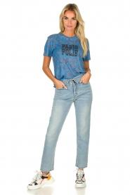 ba&sh | T-shirt met print Yawl  | blauw  | Afbeelding 3