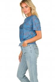 ba&sh | T-shirt met print Yawl  | blauw  | Afbeelding 4