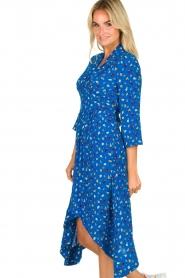 ba&sh |  Asymmetric  print dress Lilia | blue  | Picture 4