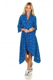 ba&sh |  Asymmetric  print dress Lilia | blue  | Picture 3