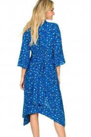 ba&sh |  Asymmetric  print dress Lilia | blue  | Picture 5