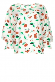 Essentiel Antwerp |  Floral blouse Tiesto | white  | Picture 1