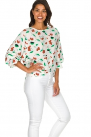 Essentiel Antwerp |  Floral blouse Tiesto | white  | Picture 5