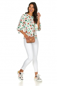 Essentiel Antwerp |  Floral blouse Tiesto | white  | Picture 3