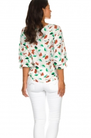 Essentiel Antwerp |  Floral blouse Tiesto | white  | Picture 6