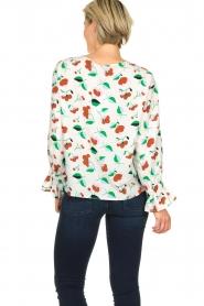 Essentiel Antwerp |  Floral blouse Tiesto | white  | Picture 5