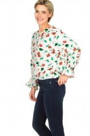 Essentiel Antwerp |  Floral blouse Tiesto | white  | Picture 4
