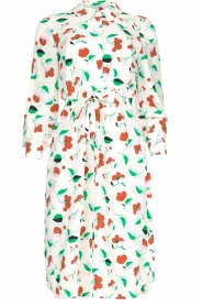 Essentiel Antwerp |  Floral midi dress Tong | white  | Picture 1