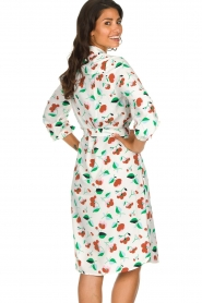 Essentiel Antwerp |  Floral midi dress Tong | white  | Picture 6