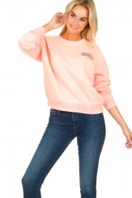 Essentiel Antwerp |  Sweater with print Tech | orange  | Picture 2