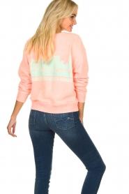 Essentiel Antwerp |  Sweater with print Tech | orange  | Picture 4