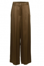 Essentiel Antwerp |  Wide leg trousers Taboe | brown  | Picture 1