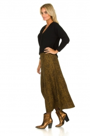 Essentiel Antwerp |  Leopard print maxi skirt  Tilde | Animal  | Picture 3