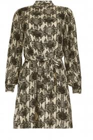 Essentiel Antwerp |  Dress with snakeprint Tesla | Natural  | Picture 1