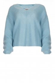 Essentiel Antwerp |  V-neck sweater Twin | blue  | Picture 1