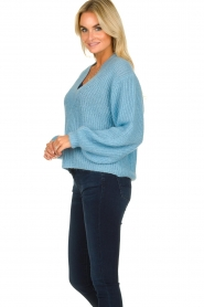Essentiel Antwerp |  V-neck sweater Twin | blue  | Picture 5
