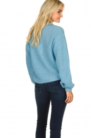 Essentiel Antwerp |  V-neck sweater Twin | blue  | Picture 6