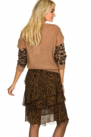 Essentiel Antwerp |  Knitted sweater with print Triboli | brown  | Picture 5