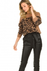 Essentiel Antwerp |  Knitted sweater with animal print Triboli | animal print  | Picture 4