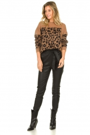 Essentiel Antwerp |  Knitted sweater with animal print Triboli | animal print  | Picture 3