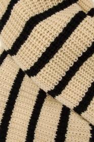 Essentiel Antwerp |  Striped scarf Testern | natural  | Picture 3