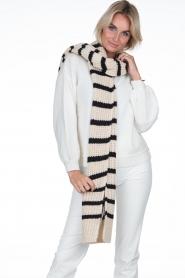 Essentiel Antwerp |  Striped scarf Testern | natural  | Picture 2