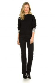 Essentiel Antwerp |  Knitted sweater Tanger | black  | Picture 3