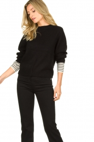 Essentiel Antwerp |  Knitted sweater Tanger | black  | Picture 4