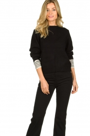 Essentiel Antwerp |  Knitted sweater Tanger | black  | Picture 2