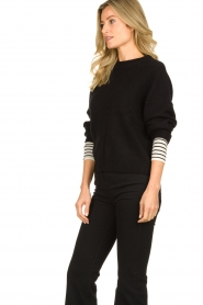 Essentiel Antwerp |  Knitted sweater Tanger | black  | Picture 5
