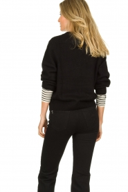 Essentiel Antwerp |  Knitted sweater Tanger | black  | Picture 6