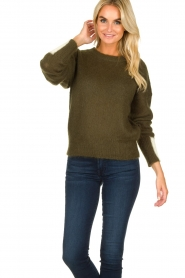Essentiel Antwerp |  Knitted sweater Toutou | green  | Picture 4