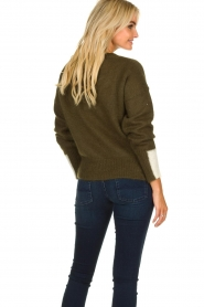Essentiel Antwerp |  Knitted sweater Toutou | green  | Picture 6