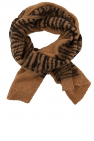 Essentiel Antwerp |  Scarf with print | brown  | Picture 3