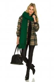 Essentiel Antwerp |  XL scarf Tupacco | green  | Picture 4